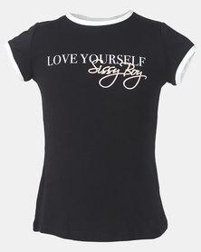 Sissy Boy Tween Monochrome T-Shirt Black