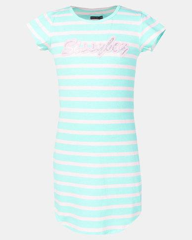 Sissy Boy Tween Ice-Cream T-Shirt Dress Blue