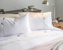Bella Linen Antique Rose Duvet Set - King