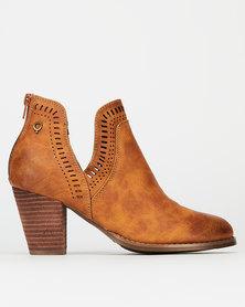 Bronx Women Randy Ankle Boots Tan