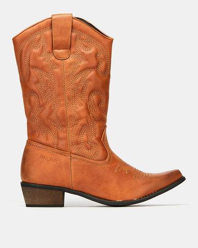 Bronx Westee 8 Boots Tan