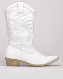 Bronx Westee 8 Boots White