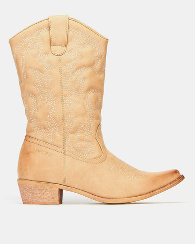 Bronx Westee 8 Boots Beige