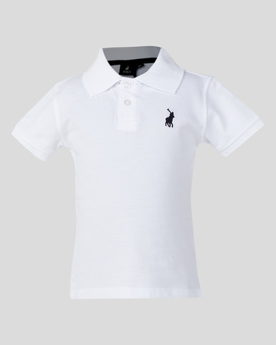 selected material 2019 clearance sale limited style Polo Boys Austin Short Sleeve Golfer White