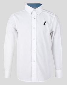 Polo Boys Nicholas Long Sleeve Shirt White