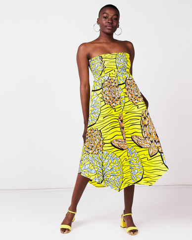 Kieke Smock Sundress Yellow