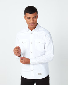 Utopia Chambric Casual Shirt White