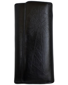 Fino Pu Leather Elegant Purse - Black