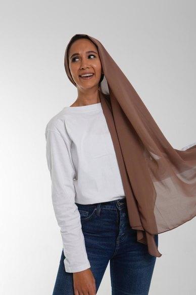 Valenci Chiffon Chocolate Nude Hijab