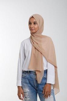 Valenci Chiffon Latte Nude Hijab