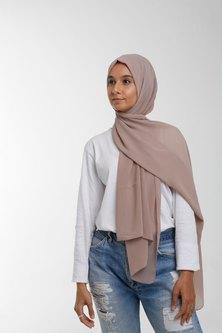 Valenci Chiffon Natural Nude Hijab