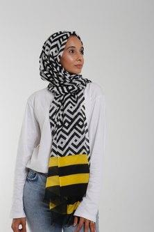 Valenci Sasha Yellow/Black/White Hijab