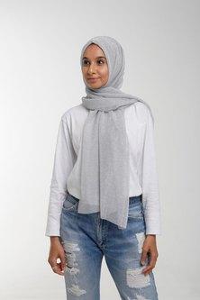Valenci Shimmery Silver Hijab