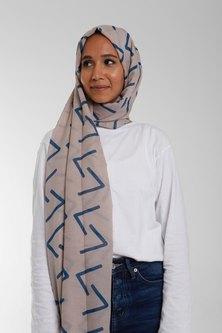 Valenci Viola Nude/Teal Hijab