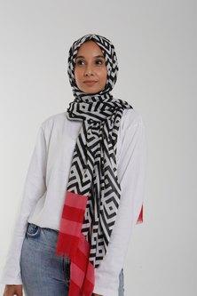 Valenci Sasha Pink/Black/White Hijab