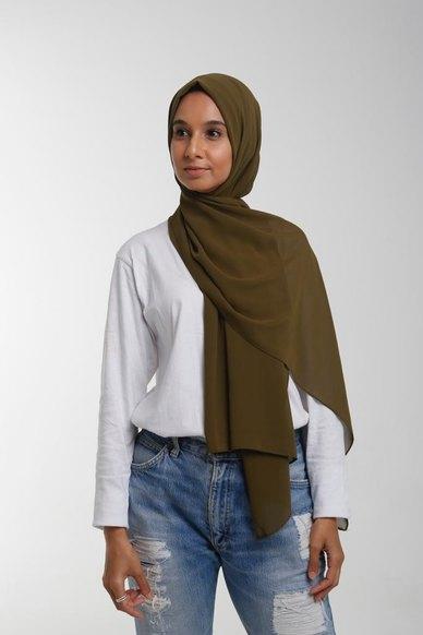 Valenci Chiffon Olive Hijab