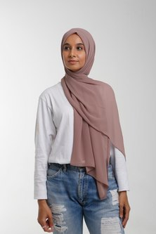 Valenci Chiffon Mocha Nude Hijab