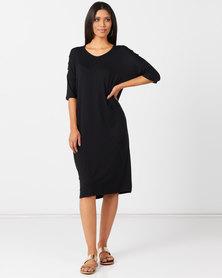 Slick Chanti Slat Sleeve Dress Black