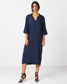 Slick Marion Dress Navy