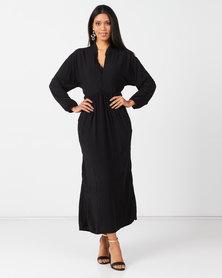 Slick Anne Boho Dress Black