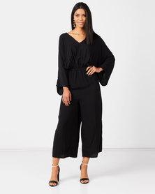 Slick Ces Kimono Jumpsuit Black