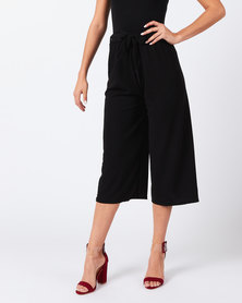 Utopia Knit Wide Leg Trousers Black