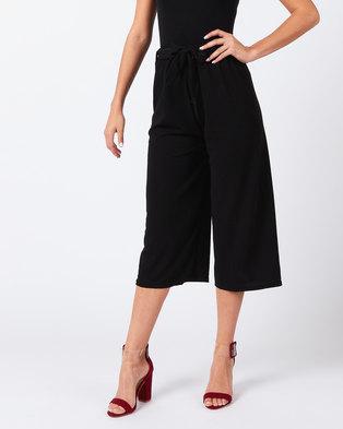 Utopia Knit Wide Leg Trousers Black