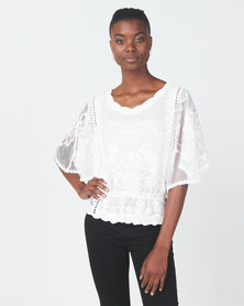 Revenge Lace Top White
