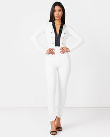 Sissy Boy Boity Monochrome Jumpsuit Black/White