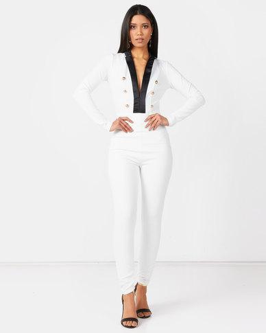 Sissy Boy Boity Monochrome Jumpsuit Black/White