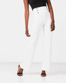Sissy Boy Boity High Waisted Military Pants Off White