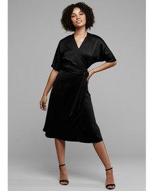 MARETH & COLLEEN Bea Wrap Dress Black