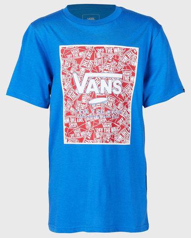 51e9a5c9b9 Vans Boys Print Box T-Shirt Blue