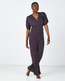 Utopia Striped Jumpsuit Blue/Rust