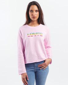 Levi's ® Lady Graphic Gym Crewneck Sweatshirt Pink