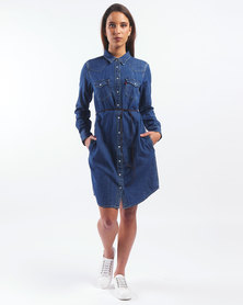 Levi's ® Walk It Out Ultimate Western Dress Blue