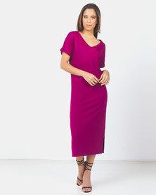 Paige Smith V-Neck Dress Grape