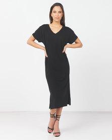 Paige Smith V-Neck Dress Black