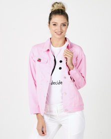 Utopia Trucker Jacket Bright Pink