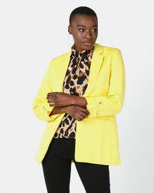 Utopia Tuxedo Blazer Yellow
