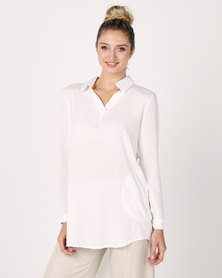 Utopia Viscose Hi-Lo Top White