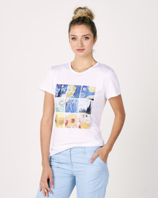 Utopia Starry Night Print Tee White