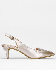 Bata Insolia Strap Dress Heels Gold