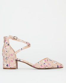 Bata Red Label Pointy Ankle Strap Light Pink