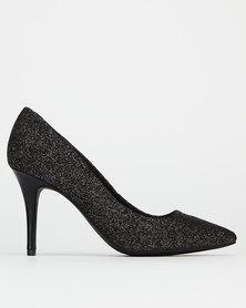 Bata Red Label Stilettos Heel Lurex Black