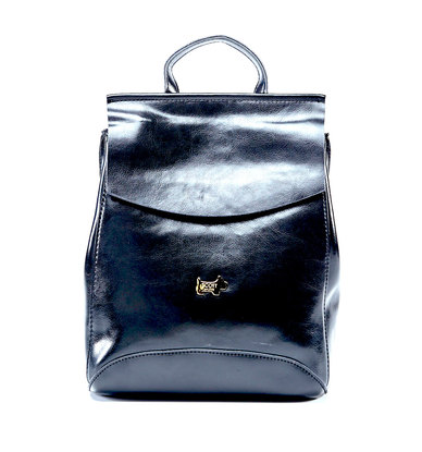 Scotty Bags Cali Leather Backpack Black
