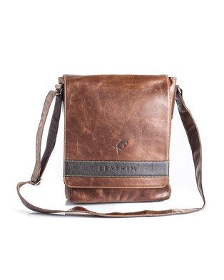 Leathim Paperboy Laptop Bag Brown