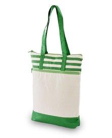 Always Summer Stripe Detail Eco Tote Green