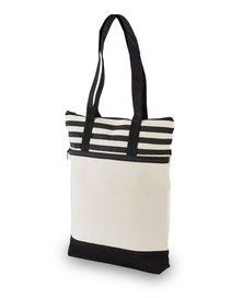 Always Summer Stripe Detail Eco Tote Black
