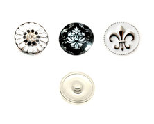 Urban Charm Interchangeable snap buttons for Snap Jewellery - Set of 3